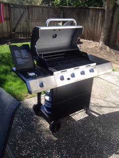 Shiny new grill!