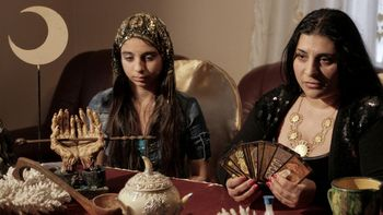 Romanian witch Mihaela Minca (right) and daughter (AP photo)