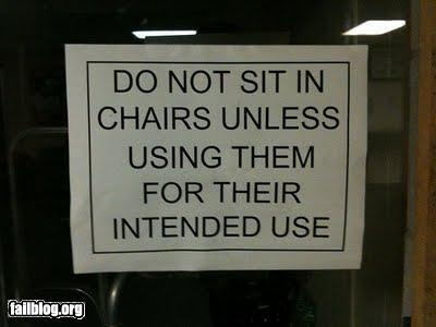 No Sitting Unless Sitting