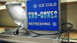 snow-cone machine