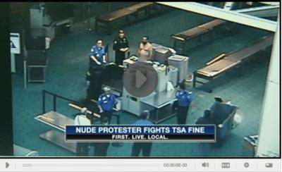 Nude TSA Protester