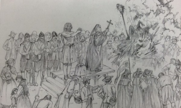 sketch of the execution