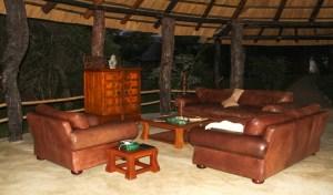 Lower Zambezi Lodge lounge
