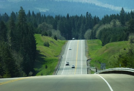 Beautiful drive along I -5 N to Portland