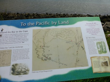 Lewis and Clark map of Cape Disappointment