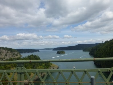 View from the bridge at Deception Pass