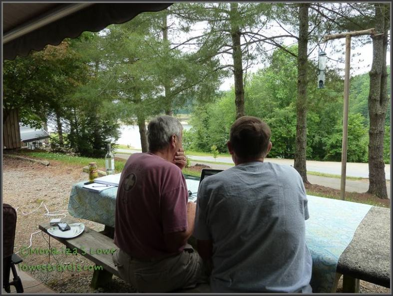 Travel planning session at site #48