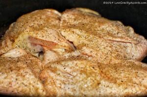 Season chicken for roasting
