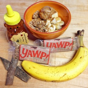 Shown with YAWP! bars as an alternative to bulk granola