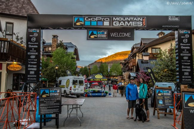 Dave and Beth at the GoPro Mountain Games entrance