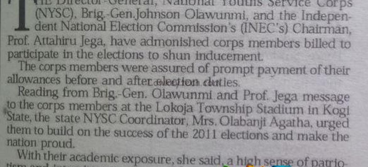 Inec To Pay Corpers N32,000 For Election