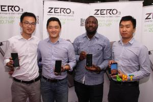 L-R Benjamin Jiang, MD Infinix Mobility_ Jeremy Doutte, CEO Jumia Africa_ Israel Ajiboye, Infinix E-commerce Manager_ Bruno Li, Infinix Country Manager