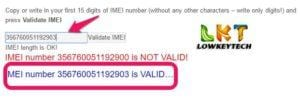 imei validation check