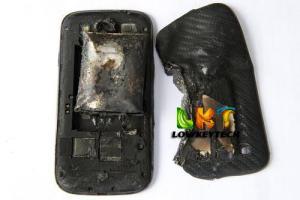 burnt smartphone