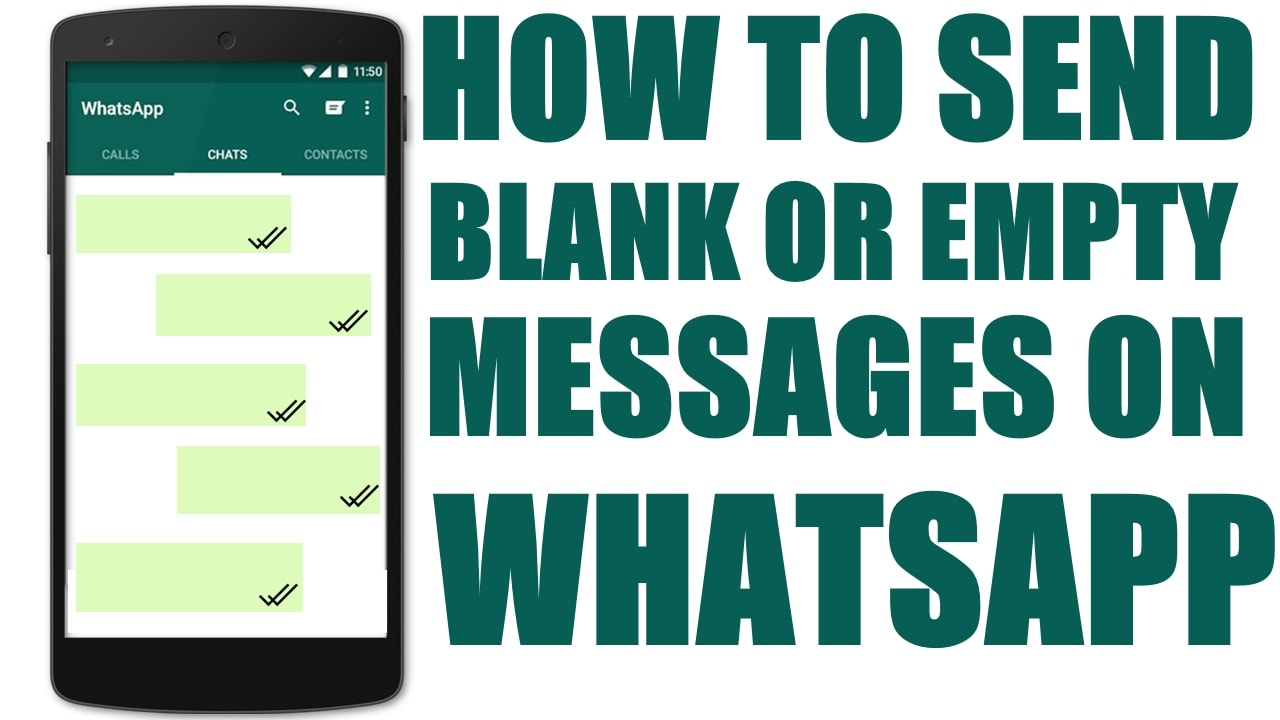 How To Send Blank Message On WhatsApp -