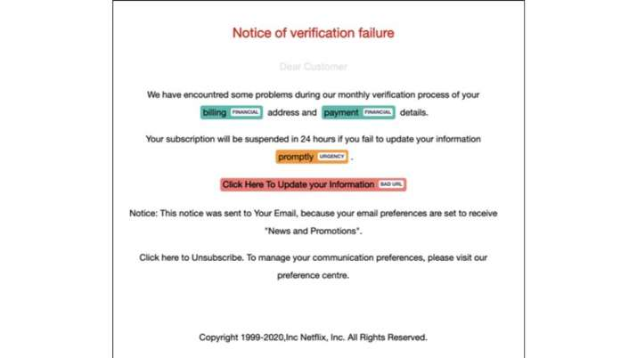 New phishing scam takes users to fake Netflix site.