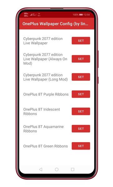 open the OnePlus Wallpaper Resources app