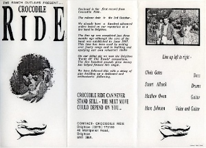 Bumpf included with promotional copies of the first Crocodile Ride single.