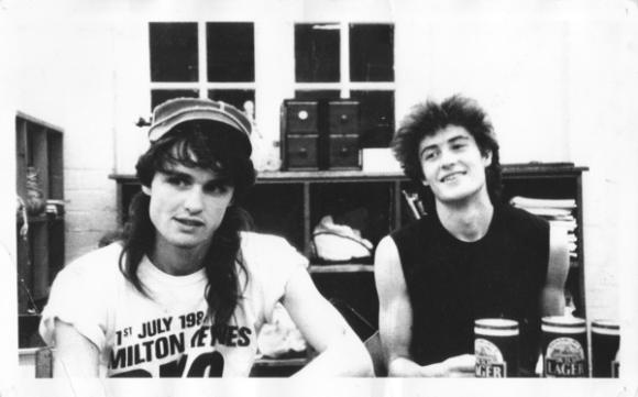 Ian and Simon of the BOB in 1985