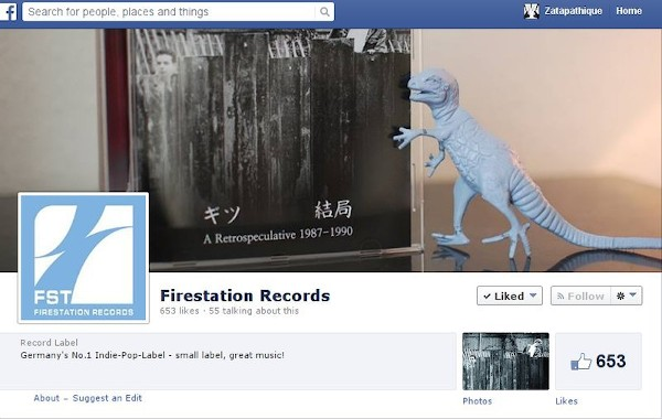 Screen capture of Firestation Records Facebook Header.