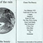 Fold out insert from the cassette version of Chant The Beauty. The front is a photograph of the moon.