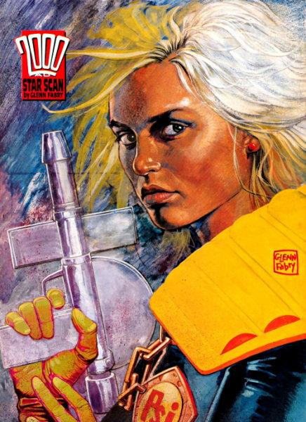 Female 2000AD Character Judge Anderson who happens to look a lot like a young Johnny Depp.