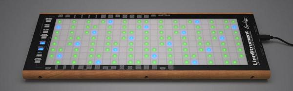 A grid like Linnstrument laid on a table.