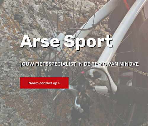 Contact page for the Netherlands bicycle company 'Arse Sport'