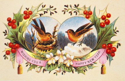 Victorian Christmas Card High Quality