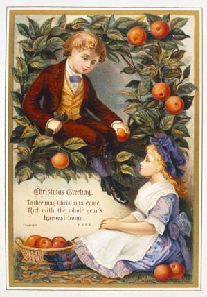 Victorian Christmas Card High Quality