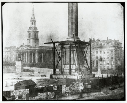 Nelson's Column under construction by Henry Fox Talbot