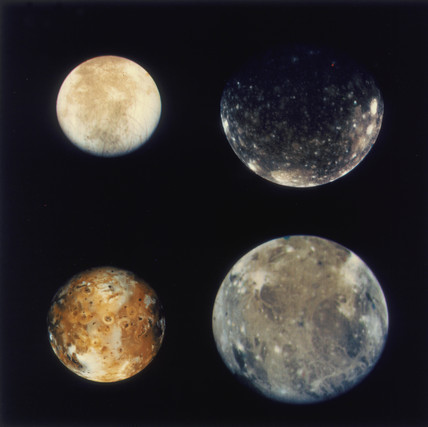 Jupiters four Galilean moons 1979 at Science and