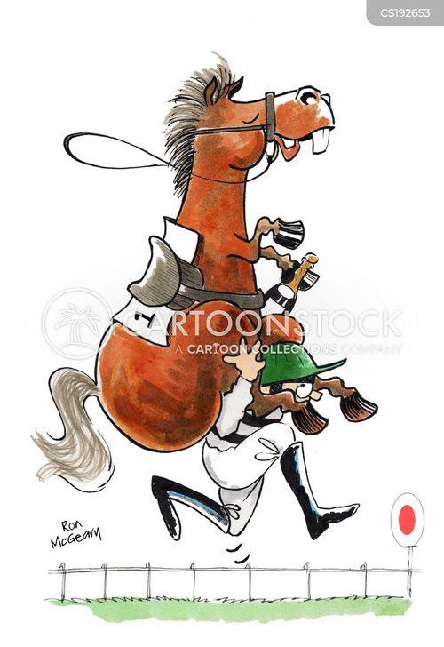 Horse Funny Racing Clip Art