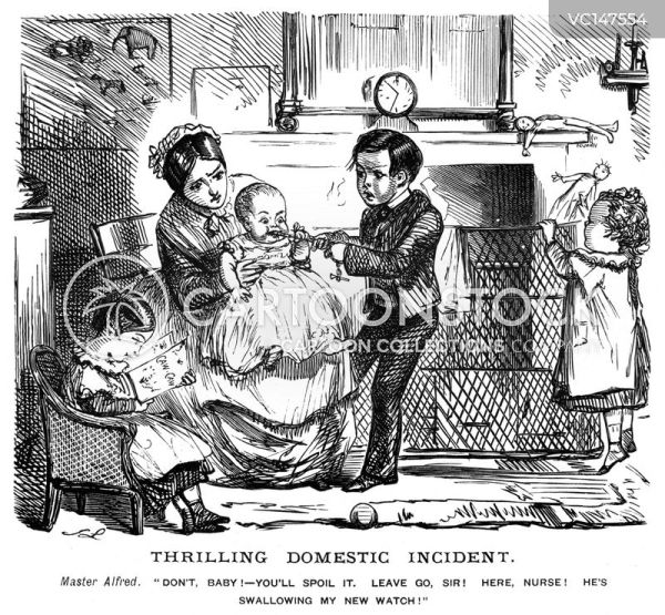 Domestic Worker Vintage and Historic Cartoons