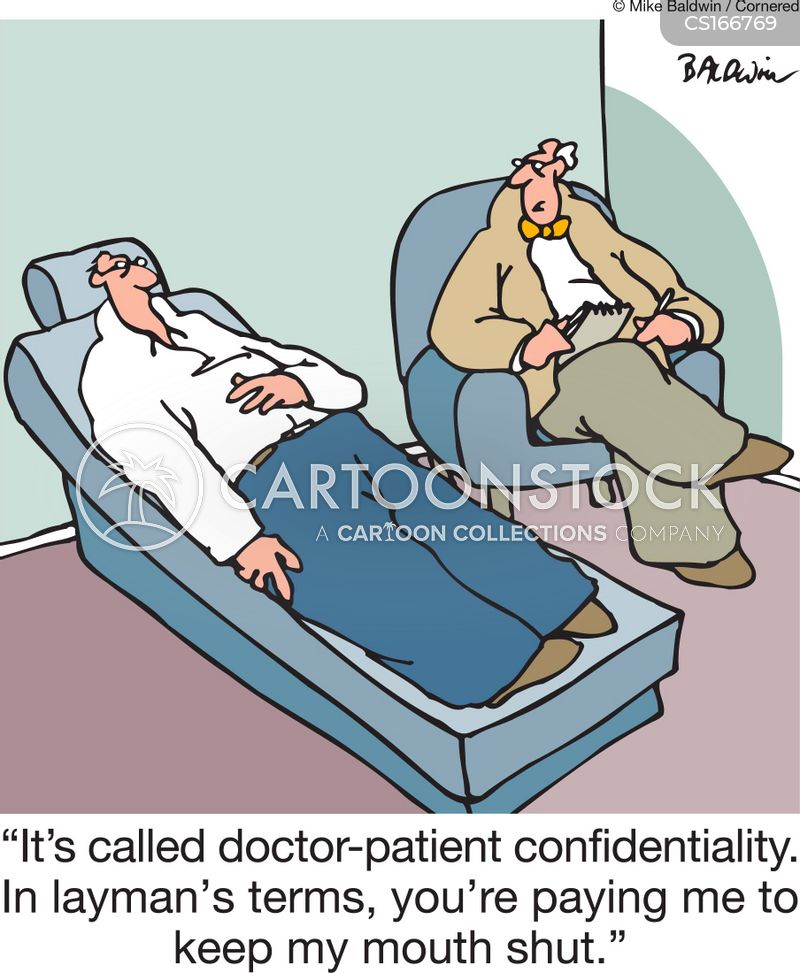 Image result for medical confidentiality cartoon