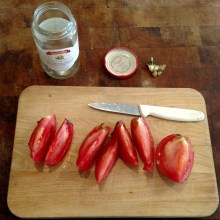 Quartered tomatoes.