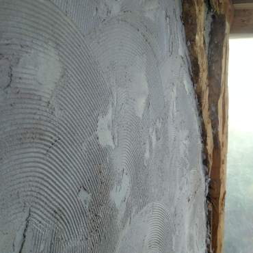 "A tile-grout trowel put the ""scratch"" in ""scratch coat."""