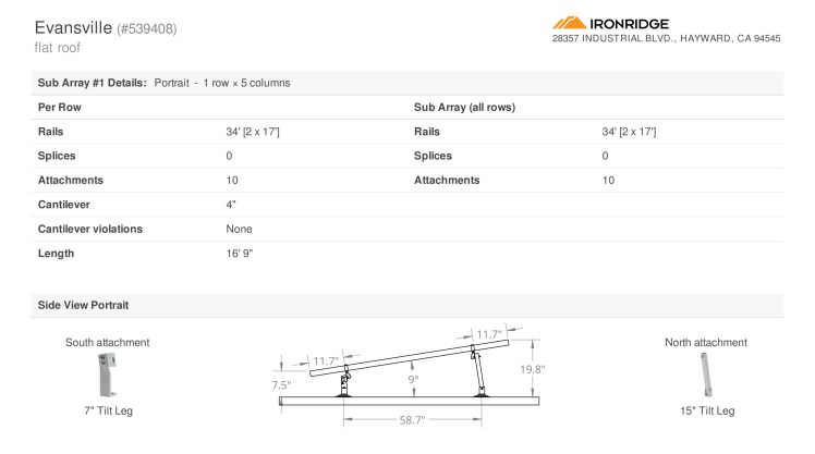 IronRidgeRack-TopPortion-BOM-Design-1
