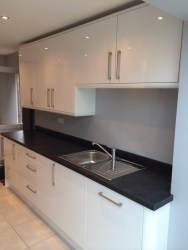 A kitchen installed by EBS Property Services, Golborne
