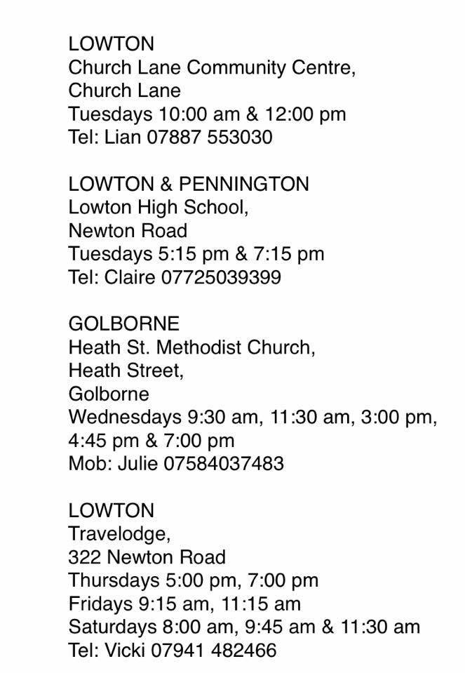 Slimming World meetings in Lowton and Golborne