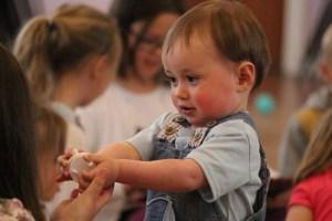 Toddler at playgroup