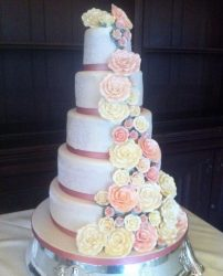 A wedding cake by Jo's Cakery