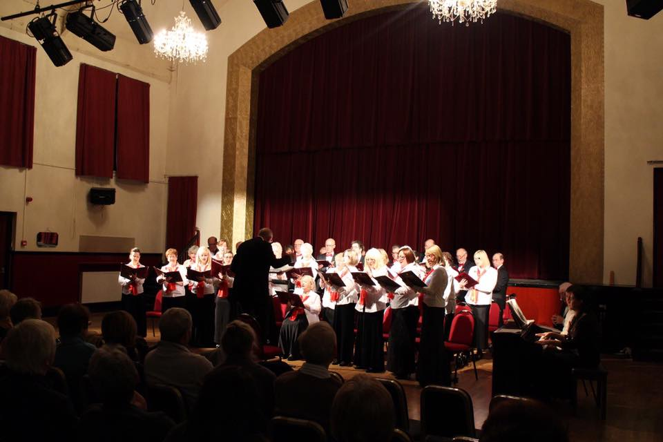 The Three Towns Operatic Society performing a concert