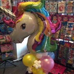 Unicorn balloon from the Party and Balloon Shop Golborne
