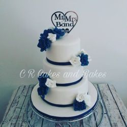 Wedding cake baked by Golborne based CR Cakes and Bakes