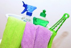 cleaning products used by a cleaner