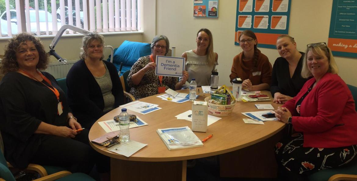 Right at Home North Cheshire and Leigh staff are fully signed up 'dementia friends'