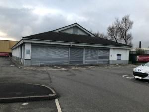 The former Lidl Store on Bridge Street Golborne lies empty