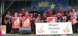 Wigan Ukelele Club performing