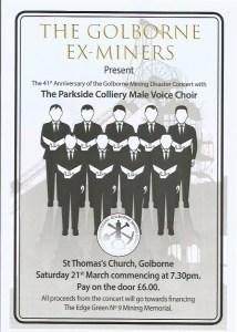 Parkside Colliery Male Voice Choir poster